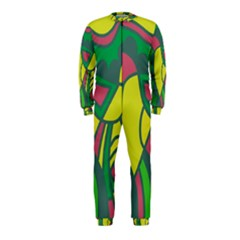 Green abstract decor OnePiece Jumpsuit (Kids)