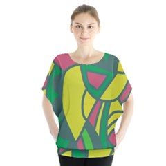 Green Abstract Decor Blouse