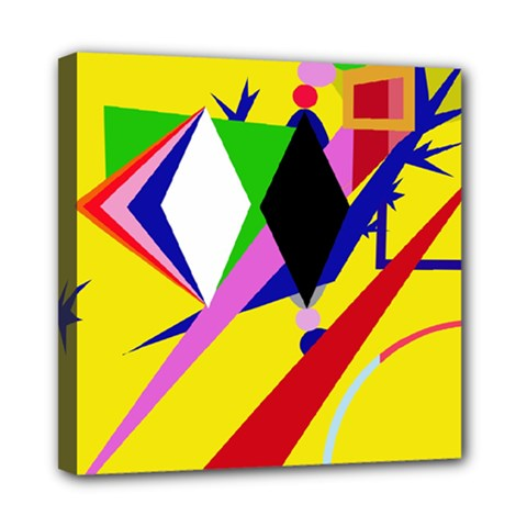 Yellow abstraction Mini Canvas 8  x 8