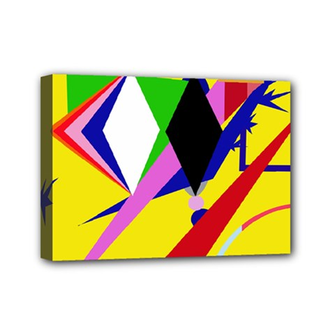 Yellow abstraction Mini Canvas 7  x 5