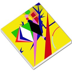 Yellow Abstraction Small Memo Pads