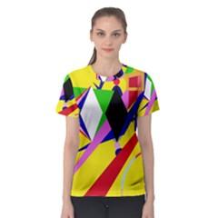 Yellow abstraction Women s Sport Mesh Tee
