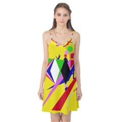 Yellow abstraction Camis Nightgown