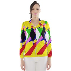 Yellow abstraction Wind Breaker (Women)