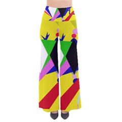 Yellow abstraction Pants