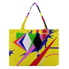 Yellow Abstraction Medium Tote Bag