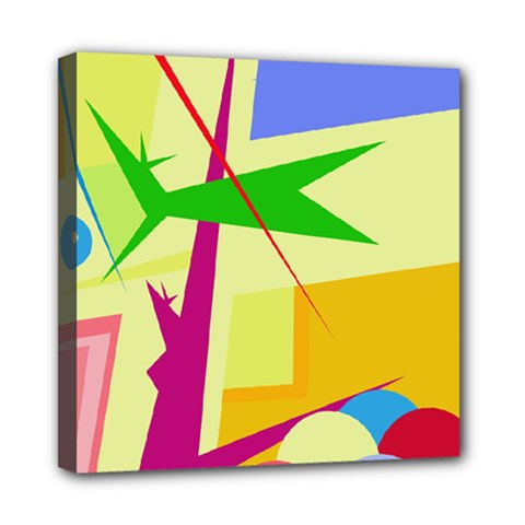 Colorful abstract art Mini Canvas 8  x 8