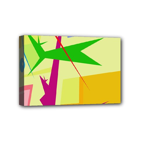 Colorful abstract art Mini Canvas 6  x 4