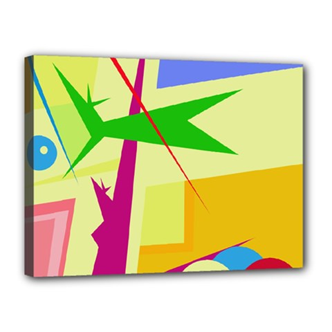 Colorful abstract art Canvas 16  x 12
