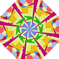 Colorful abstract art Straight Umbrellas