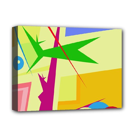 Colorful abstract art Deluxe Canvas 16  x 12