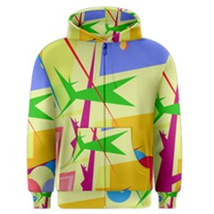 Colorful abstract art Men s Zipper Hoodie