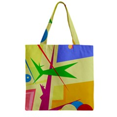 Colorful abstract art Zipper Grocery Tote Bag