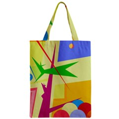 Colorful abstract art Zipper Classic Tote Bag