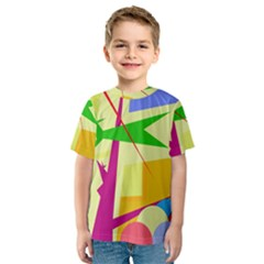 Colorful abstract art Kids  Sport Mesh Tee