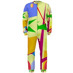 Colorful abstract art OnePiece Jumpsuit (Men)