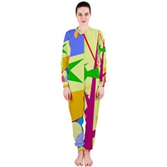 Colorful abstract art OnePiece Jumpsuit (Ladies)