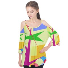 Colorful abstract art Flutter Tees