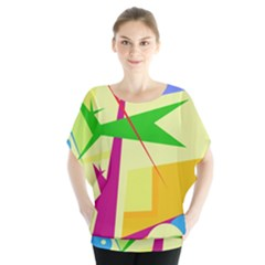 Colorful abstract art Blouse