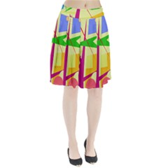 Colorful Abstract Art Pleated Skirt