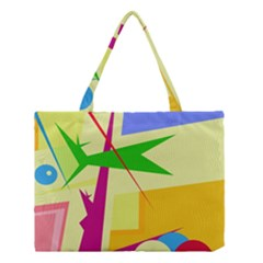 Colorful Abstract Art Medium Tote Bag