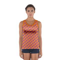 Vibrant Retro Diamond Pattern Women s Sport Tank Top