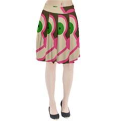 Dog face Pleated Skirt