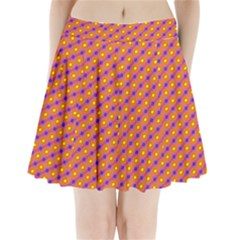 Vibrant Retro Diamond Pattern Pleated Mini Skirt