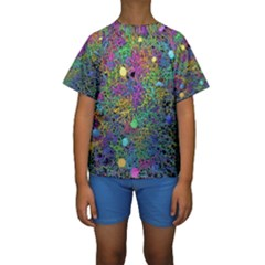 Starbursts Biploar Spring Colors Nature Kids  Short Sleeve Swimwear
