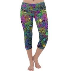 Starbursts Biploar Spring Colors Nature Capri Yoga Leggings