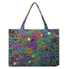 Starbursts Biploar Spring Colors Nature Medium Zipper Tote Bag
