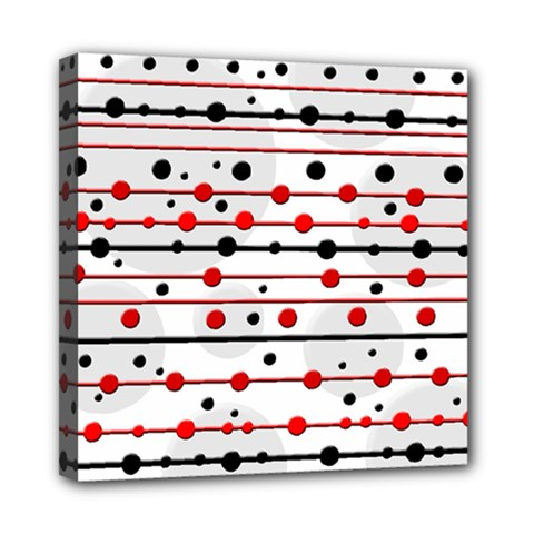 Dots and lines Mini Canvas 8  x 8