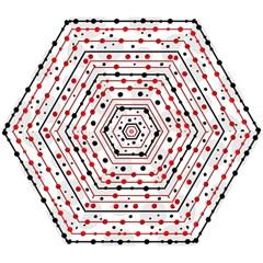 Dots and lines Mini Folding Umbrellas