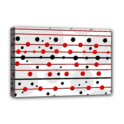 Dots and lines Deluxe Canvas 18  x 12