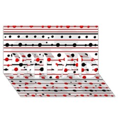 Dots and lines #1 DAD 3D Greeting Card (8x4)