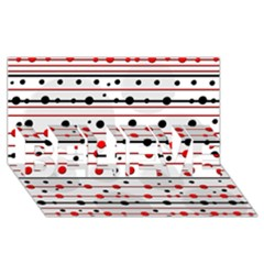 Dots and lines BELIEVE 3D Greeting Card (8x4)