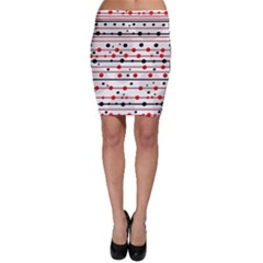 Dots and lines Bodycon Skirt
