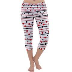 Dots and lines Capri Yoga Leggings