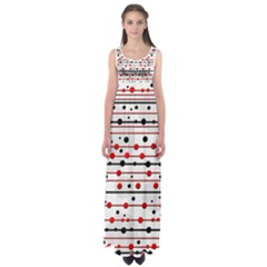 Dots And Lines Empire Waist Maxi Dress