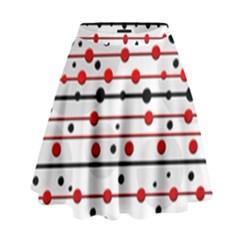 Dots and lines High Waist Skirt