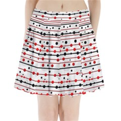 Dots And Lines Pleated Mini Skirt