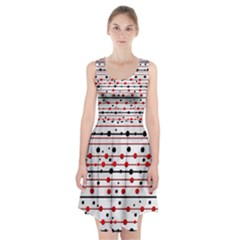 Dots and lines Racerback Midi Dress