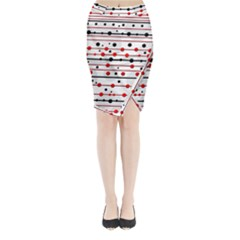 Dots And Lines Midi Wrap Pencil Skirt