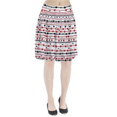 Dots and lines Pleated Skirt