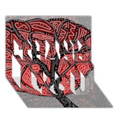 Decorative tree 1 THANK YOU 3D Greeting Card (7x5)