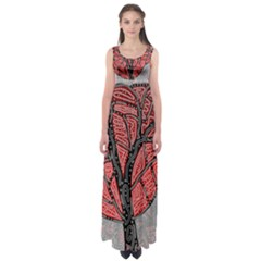 Decorative tree 1 Empire Waist Maxi Dress
