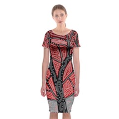Decorative Tree 1 Classic Short Sleeve Midi Dress