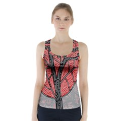 Decorative Tree 1 Racer Back Sports Top