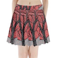 Decorative tree 1 Pleated Mini Skirt