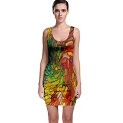 Stained Glass Patterns Colorful Sleeveless Bodycon Dress